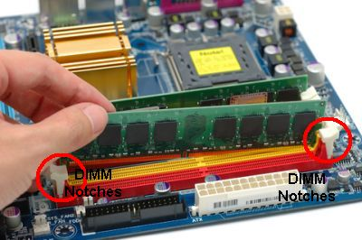 Computer memory upgrade