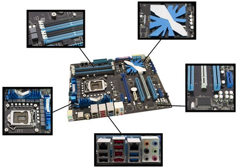 Computer Components Motherboard