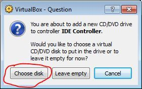 VirtualBox Add DVD