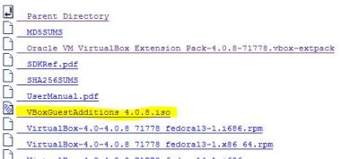 VirtualBox GuestAdditions download directory