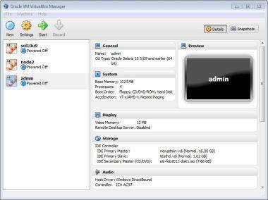 Virtualbox install Start up
