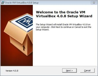 Virtualbox install Welcome
