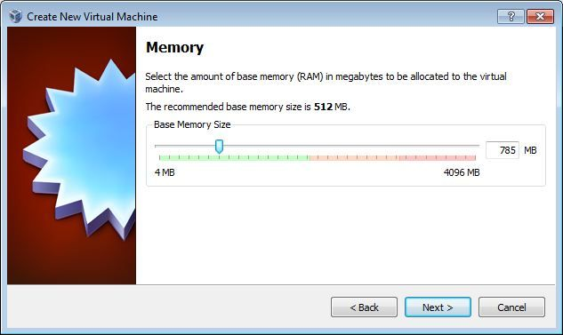 Vbox memory