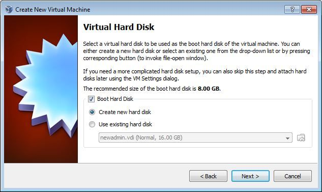 Vbox Hard disk