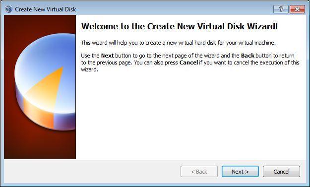 Vbox Hard disk wizard