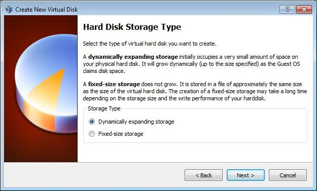 Vbox Hard disk type