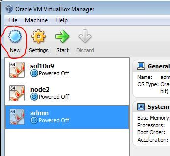 Virtualbox Manager New VM
