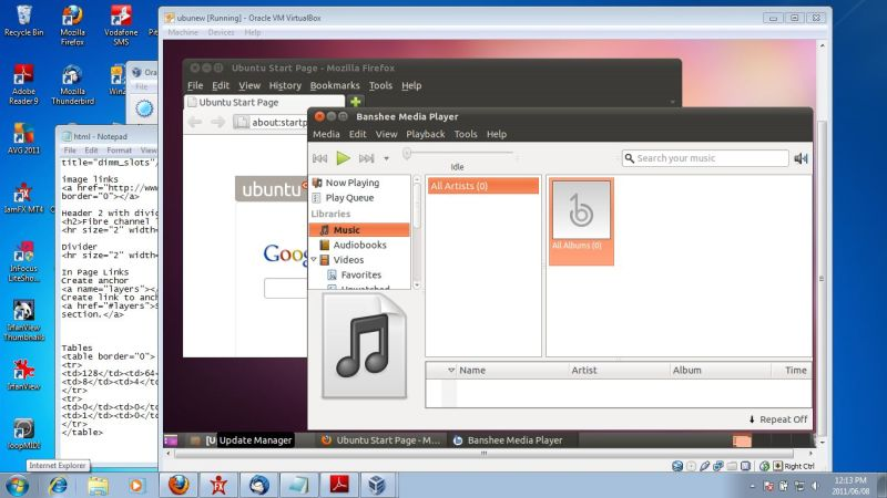 Virtual Box OS Ubuntu 11.04