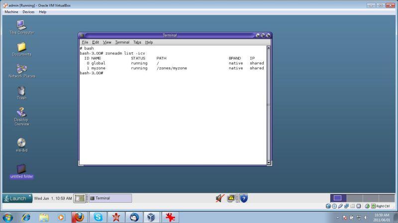 VirtualBox Solaris 10 zones
