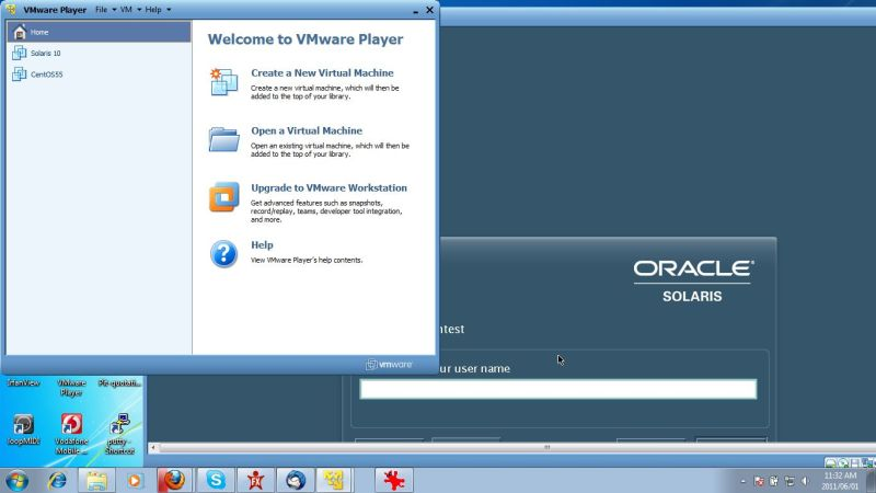 vmware player solaris10