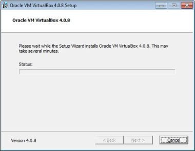 Virtualbox install Ready